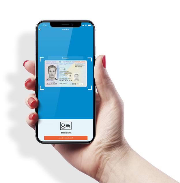 Iphone in hand ID scan